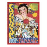 Vintage Carnaval Panama 1937 Post Card