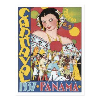 Vintage Carnaval Panama 1937 Postcard