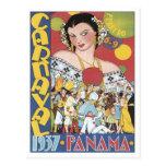 Vintage Carnaval Panama 1937 Postcards