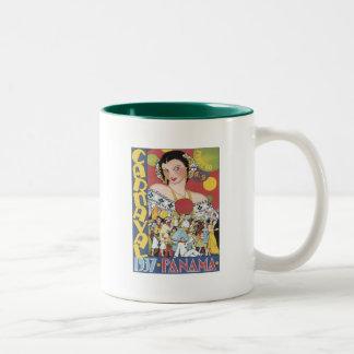 Vintage Carnaval Panama 1937 Two-Tone Coffee Mug