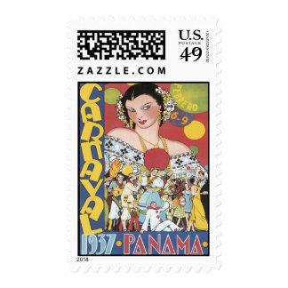 Vintage Carnaval Panama Stamp