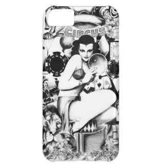 Vintage Carnival and freak show illustration. Cover For iPhone 5C