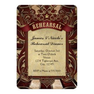 Vintage Carnival Circus Wedding Rehearsal Card