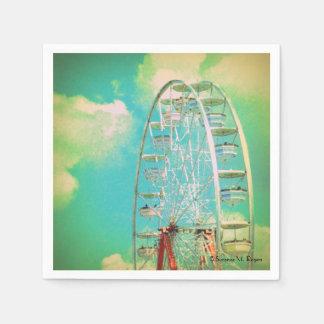 Vintage Carnival Ferris Wheel ~ Cocktail Napkins