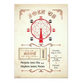 Vintage Carnival Ferris Wheel Invitation