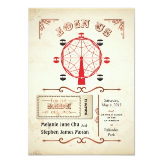 Vintage Carnival Ferris Wheel Invitation