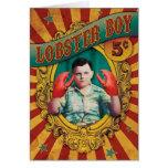 Vintage Carnival Freak Show Lobster Boy Card