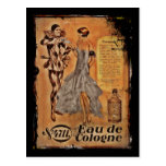Vintage Carnival French Cologne Postcard
