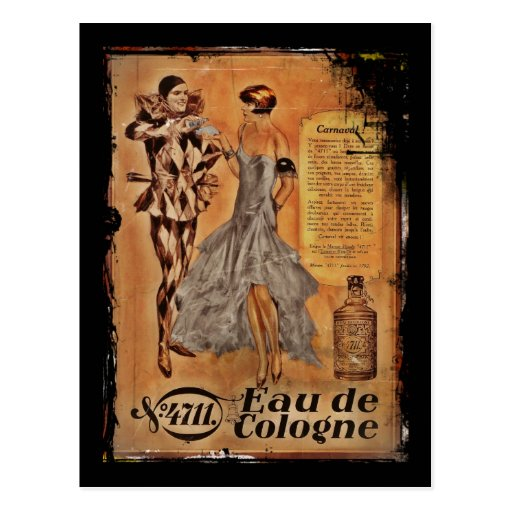 Vintage Carnival French Cologne Post Cards