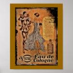 Vintage Carnival French Cologne Poster