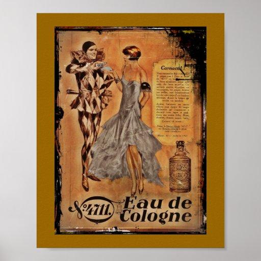 Vintage Carnival French Cologne Poster  Zazzle -> Vintage Möbel Leihen Köln