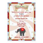 "vintage carnival or circus birthday invitation 5"" x 7"" invitation card"