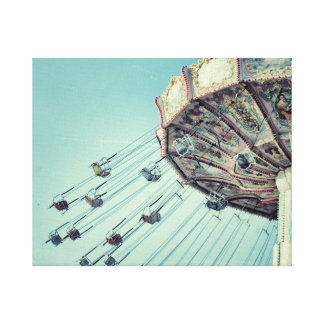 Vintage carnival ride canvas
