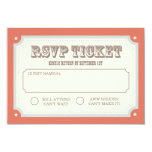 Vintage Carnival RSVP Card Personalized Invitation