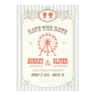 Vintage Carnival Save the Date Custom Announcement