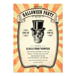 Vintage Carnival Show Halloween Invitations