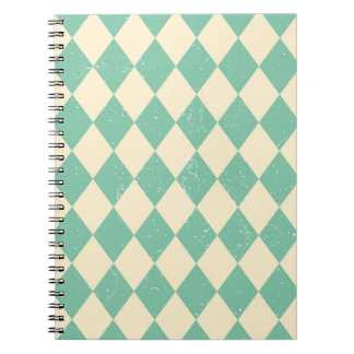 Vintage carnival turquoise notebook