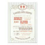 Vintage Carnival Wedding Invitation