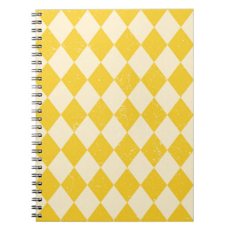 Vintage carnival yellow book notebook