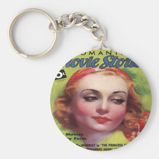 Vintage Carole Lombard Movie Stories Mag Key Chain