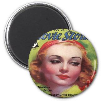 Vintage Carole Lombard Movie Stories Mag Magnet