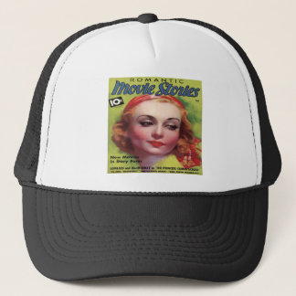 Vintage Carole Lombard Movie Stories Mag Trucker Hat