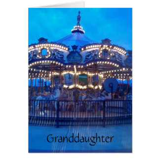 """VINTAGE CAROUSEL"" HAPPY BIRTHDAY GRANDDAUGHTER CARD"