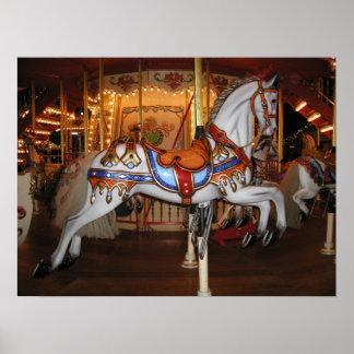 Vintage Carousel Horse 001 01 Poster