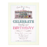 Vintage Carousel Party Invitation