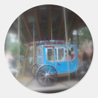 Vintage caroussel classic round sticker