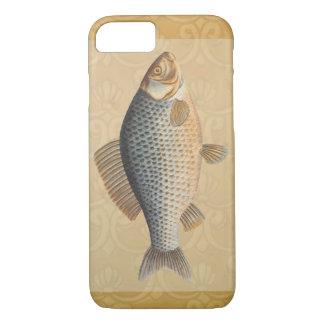 Vintage Carp Freshwater Fish Drawing iPhone 8/7 Case