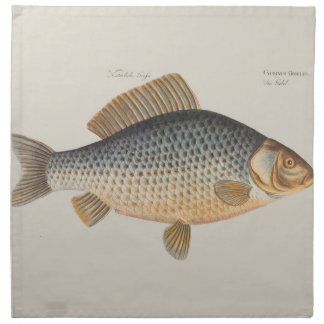 Vintage Carp Freshwater Fish Drawing Napkin