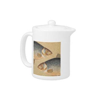 Vintage Carp Freshwater Fish Drawing