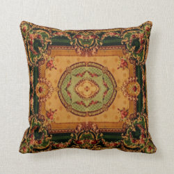 Vintage Carpet Patterns: Axminster 3421 Pillow