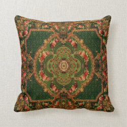 Vintage Carpet Patterns: Axminster 3432 Pillow