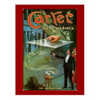 Vintage Carretero el poster mágico misterioso Tarjeta Postal