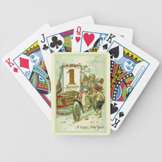 Vintage Carriage for New Year Bicycle Playing Cards