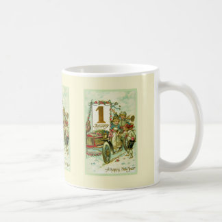 Vintage Carriage for New Year Coffee Mug