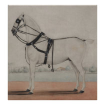 Vintage Carriage Horse Painting (1845) Poster