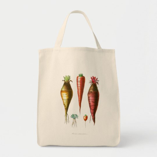 Vintage Carrots Vegetarian Tote Bag