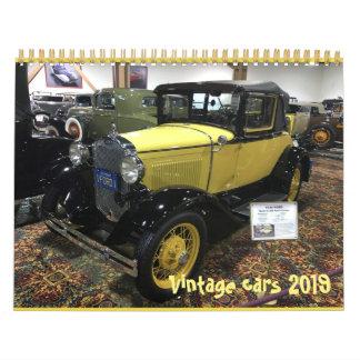 Vintage cars 2019 calendar