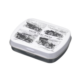 Vintage cars custom tins & jars jelly belly candy tin