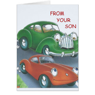 Vintage Cars Father's Day Card From Son
