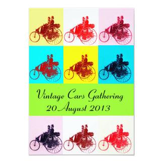 ViNTAGE CARS GATHERING POP ART Card