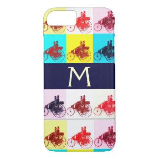 VINTAGE CARS GATHERING POP ART MONOGRAM iPhone 7 CASE