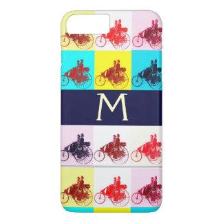 VINTAGE CARS GATHERING POP ART MONOGRAM iPhone 7 PLUS CASE