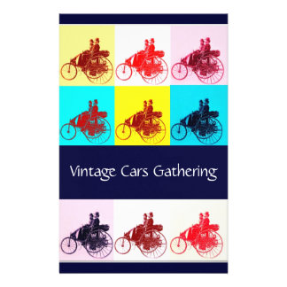 ViNTAGE CARS GATHERING POP ART Stationery