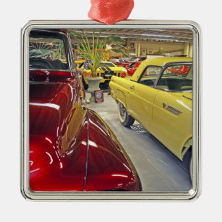 Vintage cars in Tallahassee Automobile Museum Christmas Tree Ornament