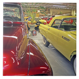 Vintage cars in Tallahassee Automobile Museum Tile