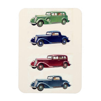 Vintage cars magnet